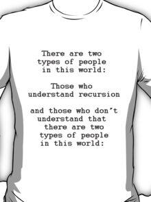 Recursion (Light background) T-Shirt