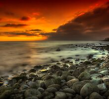Steephill Cove Sunset by manateevoyager