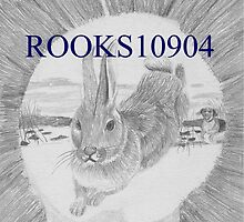 Rabbit on the Run ANIMAL ART PRINT by rooks10904