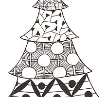 Zentangle Christmas Tree 007 by Ryan Elizabeth Woelfel