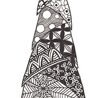 Zentangle Christmas Tree 006 by Ryan Elizabeth Woelfel