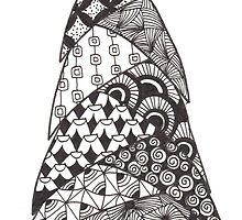 Zentangle Christmas Tree 005 by Ryan Elizabeth Woelfel