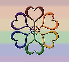 Rainbow Colored Female Gender Symbol Spiral by LiveLoudGraphic