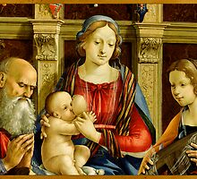 Madonna and Child with a Male Saint, Catherine of Alexandria and a Donor, about 1500 by Nymza