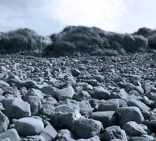 rocky beach in Kerry blue by morrbyte