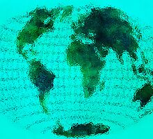 World Map 12 Glass Effect by Marian1