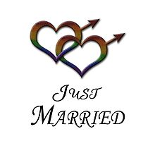 Just Married - Gay Pride - Marriage Equality by LiveLoudGraphic