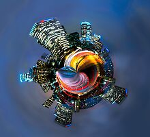 Downtown Los Angeles Little planet by Jerome Obille