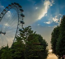 London Eye at Dusk by DavePrice