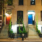 Red Door and Blue Door - New York City by Vivienne Gucwa