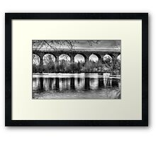 Viaduct at Reddish Vale Country Park Framed Print