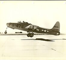 First Full Test Flight XP-84 by John Schneider