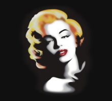 Marilyn Monroe Golden Hair by BluedarkArt