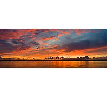 panoramic sunset in the Guadiana river Photographic Print