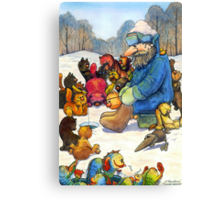 Winter fishing Canvas Print