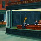 Art Giraffe- Nighthawks by Sundayink