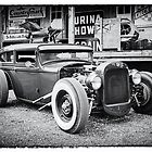 Classic Hot Rod in Black and White by Thomas Young