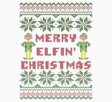 Merry Elfin Christmas Funny Ugly Sweater Shirt by xdurango