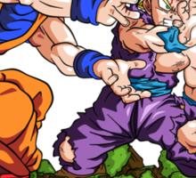 Dragon Ball Z Goku and Teen Gohan SSJ2 Sticker