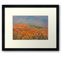 Red Land 03 Framed Print
