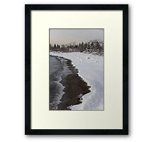 Snowy Winter Beach Patterns - Lake Ontario, Toronto, Canada Framed Print