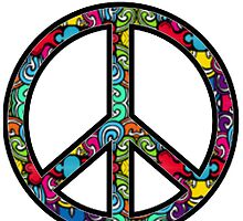 Peace Sign Design Pattern #1 by iArt Designs