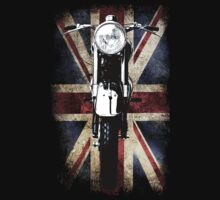 Classic British BSA Motor Cycle Tee by patjila