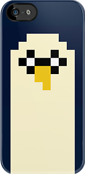 Adventure Time 8-bit Sprite Gunter's Face by d13design