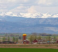 Scenic View Looking Over Anderson Farms Up To Rockies by Bo Insogna