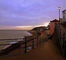Sunset on Cromer Promenade by Lilian Marshall