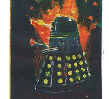 dalek on fire by drewhird