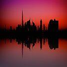 City Silhouette - Dubai by fernblacker