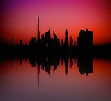City Silhouette - Dubai by Fern Blacker