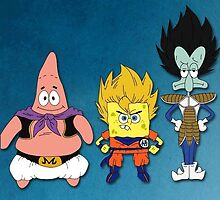 Spongebob + Dragon ball by nad23