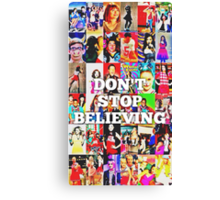 Glee-Don't Stop Believing Collage Canvas Print