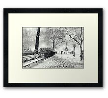 Winter Night - Madison Square Park - New York City Framed Print