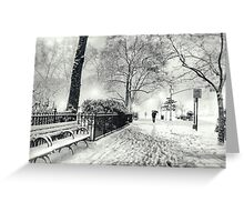 Winter Night - Madison Square Park - New York City Greeting Card