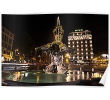 Rome's Fabulous Fountains - Bernini's Fontana del Tritone Poster