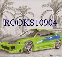 Mitsubishi Eclipse SPORTS CAR ART PRINT by rooks10904