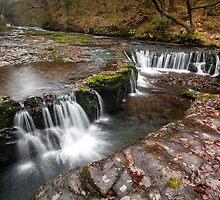 Horseshoe Falls, Vale of Neath. UK by Heidi Stewart