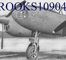 Lockheed P-38 Lightning Maloney's Pony MILITARY ART PRINT by rooks10904