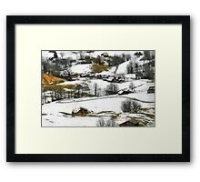 Let it snow, Switzerland Framed Print