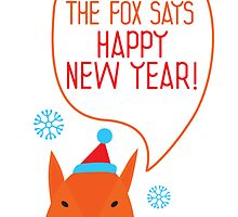 The fox says Happy New Year! by Mila Murphy