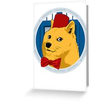 Wow Such Timelord! Greeting Card