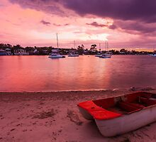 Pink sky at night sailors delight! by Martin Canning