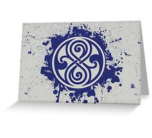 Doctor Who Seal of Rassilon Greeting Card