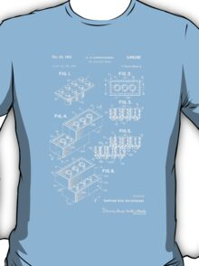 Lego Patent - Dark Background T-Shirt