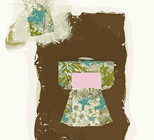 blue and pink kimono by Julie  Savard