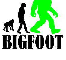 Bigfoot Evolution (Green) by kwg2200