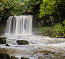 Sgwd Yr Eira Waterfall, Vale of Neath. UK by Heidi Stewart